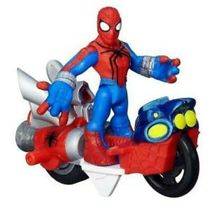 "Racing Car For 3"" Playskool Marvel Super Hero Adventure Spiderman Figure Toy"