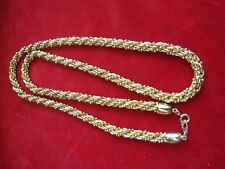 "31"" Gold Toned Chucky Rope Chain Necklace"