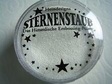 Stempel  Embossingpulver von Hein Design Sternenstaub WEISS