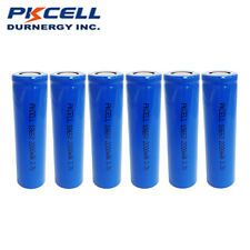 6 Pack 3.7V 18650 Rechargeable Battery Lithium Li-ion Mod Battery Flat Top