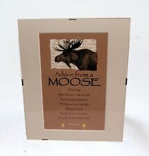 "Advice from a Moose Inspirational 8"" x 10"" Matted Picture Art w/ Clip Frame"