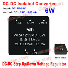 DC-DC 9V-18V 12V to ±15V 6W Buck Boost Step Up/Down Isolated Converter Module