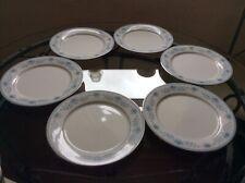 "Noritake Blue Hill 2482 Dinner Plates x 6 (10.5"")"
