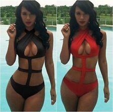 Briefs Halterneck Monokinis Plus Size Swimwear for Women