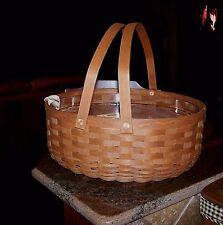 Longaberger LG Baker's Basket RB + Protector - Picnics, Potlucks  Orig $150  NEW