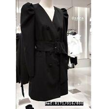 NEW ZARA AW19 BLACK DRESS BLAZER WITH BELT 7832/504 M CHAQUETA VESTIDO CINTURÓN