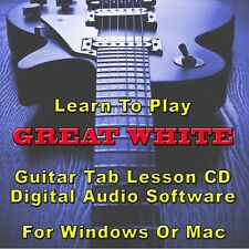 GREAT WHITE Guitar Tab Lesson CD Software  - 16 Songs