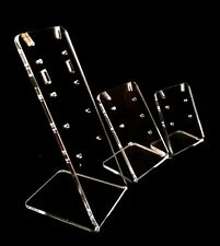 Earring display stands in clear acrylic 3 sizes in set