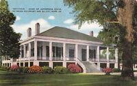 Postcard Beauvoir Home Jefferson Davis Between Gulfport + Biloxi Mississippi