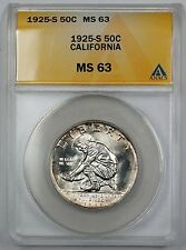 1925-S California Commemorative Silver Half Dollar ANACS MS 63 (Better Coin)