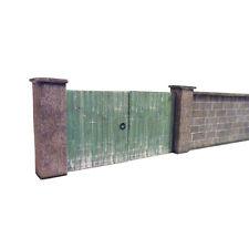 6ft DRESSED STONE WALL & GATES CARD KIT- OO GAUGE HORNBY MODEL RAILWAY
