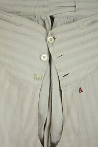 Vintage Long Underpants French purple striped white pants pajama 30 inch waist