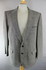 CLASSIC BRITISH MADE JOHN G.HARDY PURE WOOL GREY HERRINGBONE TWEED JACKET 44 IN