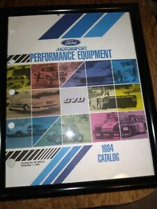 Ford Motorsports 1984 Performance SVO Mustang Racing Catalog Jobber Price Sheet