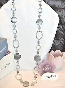 """Beautiful Lia Sophia """"BUNGALOW"""" Necklace, Mother-of-Pearl, 36-39"""", NWT"""