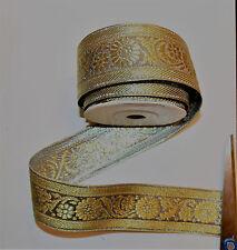 40mm gold jacquard embroidered ribbon applique motif trimming decor