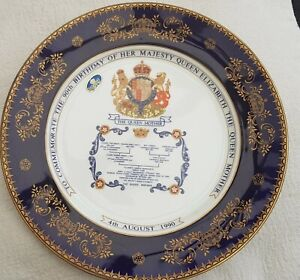 Queen mother Elizabeth 90th birthday Plate to Commemorate her 90th birthday.