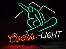 """Brand New Coors Light Skate Board Gift Sign Neon Light 16""""x15"""""""