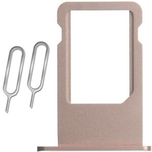 Rose Gold Sim Tray Card Holder Plus 2 Eject Pins For iPhone 6S