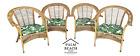 Set of 4 MCM FRANCO ALBINI Style Bamboo Rattan Bentwood Armchairs
