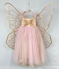 NEW Pottery Barn KIDS Pink Butterfly Fairy Halloween Costume~7-8~NO WAND