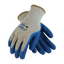 G Tek Force BLue Work Gloves Crinkly Grip 39-C1300  3PAIR PACK  size LG