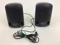 Sony SRS-P3 Mini Stereo Speakers System Black Wired Walkman Vintage 1994