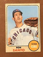 1968 Topps Ron Santo Card #235 EX HOF Chicago Cubs