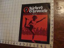 VINTAGE hacky sack paper: KICKER'S CHRONICLE fall 1982, 8pgs