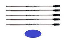 5 - Ballpoint Pen Refills for S.T. DUPONT Pens - Blue Medium Point - New