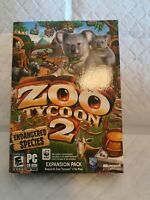 PC Zoo Tycoon 2 Endangered Species.Expansion pack.  Complete