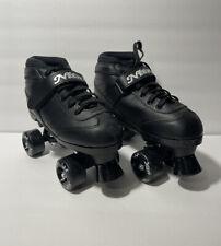 Epic Super Nitro Black Indoor / Outdoor Quad Roller Speed Skates Size 5