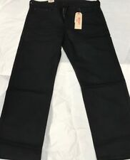 NEW LEVIS 569 STRETCH LOOSE STRAIGHT JEANS MENS W34-L30 BLACK COLOR