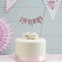 Pretty Vintage Floral Fancy Cake Bunting - Birthday/Wedding/Afternoon Tea Party