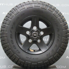 "GENUINE NEW LAND ROVER DEFENDER 90/110 SVX 16""INCH BLACK ALLOY WHEELS+TYRES X4"