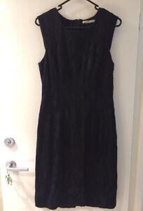 #savingglory CACHAREL ETOILE Little Black Dress Jacquard Size 40 Or 10-12 Heavy
