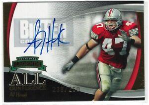 2006 Press Pass Legends AJ Hawk All Conference Gold On Card Autograph #'d /260