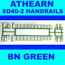 BURLINGTON NORTHERN SD40-2 SOLID GREEN HANDRAIL SET  ATHEARN HO Scale
