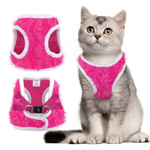Small Pet Control Dog Cat Walking Jacket Harness Soft  Mesh Rose Cat Vest S M L