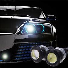 2 X 12V Motor Car 9W LED Eagle Eye White Light Daytime Running DRL Backup Lights