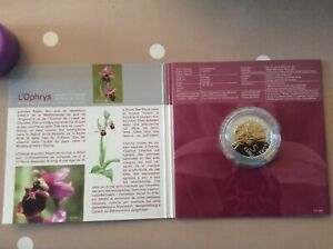 """LUXEMBOURG 2012  5 EURO BE/PP/PROOF"""" OPHRYS BOURDON """" SUPERBE"""