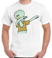 Squidward T-Shirt Dabbing Spongbob Squarepants Inspired Mens Funny Cartoon