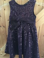 Gorgeous Purple Sequinned Dress 1 - 1 1/2 Years Height 81-86cm By George