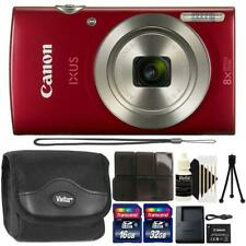Canon IXUS 185 / ELPH 180 20MP Digital Camera Red and Accessory Kit