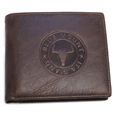 New Genuine Leather Mens Wallets Full ZIPPER Purse Vintage Retro Style