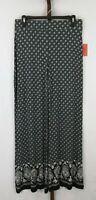 Mossimo Womens Ladies Black White Flare Leg Pants Size Medium NEW