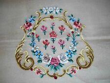Ep 2801/2 Vintage Rose Floral Chair Seat Petitpoint Needlepoint Canvas