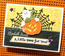 HALLOWEEN 3 Stampin Up Card Kit Cute Cutest Ghost Pumpkin Spider Web doilies