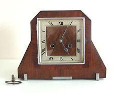 Walnut Art Deco Antique Mantel & Carriage Clocks