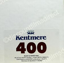 Kentmere (BY ILFORD) 400 30.5m (100ft) BULK LENGTH B&W FILM by 1st CLASS POST